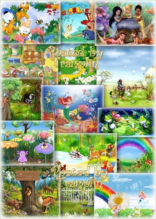Детские Фоны для вашего творчества