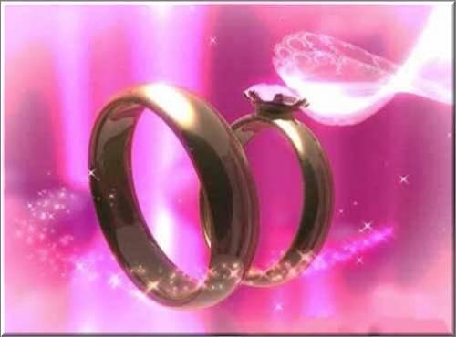 красивый футаж - С обручальными кольцами - с озвучкой
