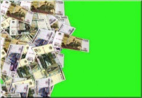 футаж -Падающие деньги