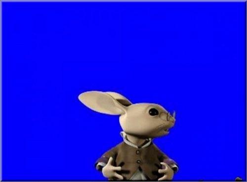 футаж - Заяц появляется с низу и говорит что такое я не понимаю