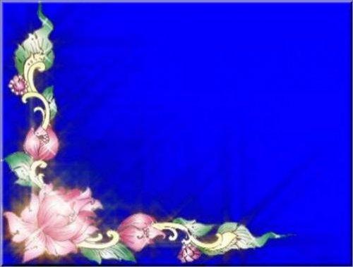 футаж - Цветочный бордюр на хромакее