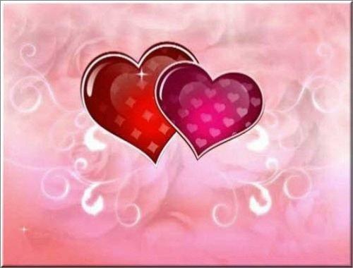 футаж - Красивый анимированный фон с сердечками