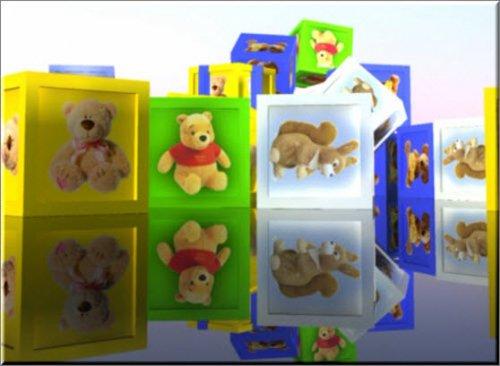 футаж Детский фон с кубиками