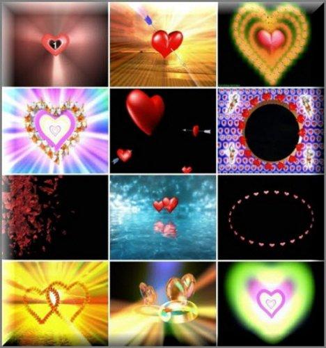 Набор футажей с сердечками