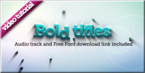 Videohive Bold Titles Logo Revealer After Effects