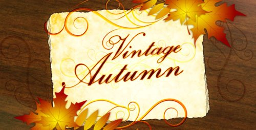 Vintage Autumn - Project for After Effects (Videohive)