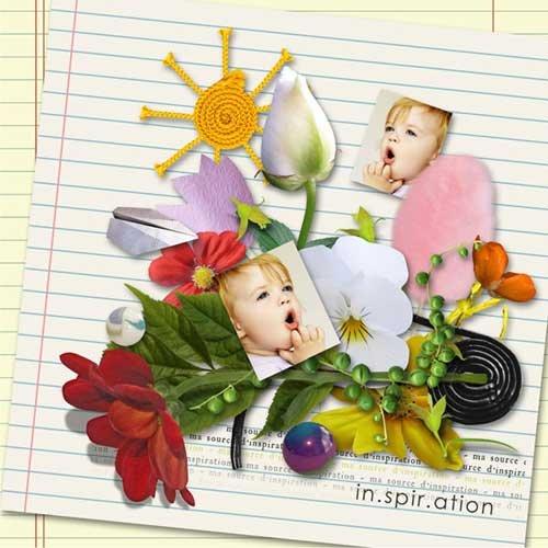 Интересный детский скрап-набор - Жизнь ребенка
