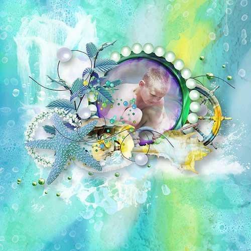 Детский морской скрап-набор - Дитя моря