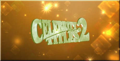 VideoHive After Effects Project - Celebrity Titles 2 221624