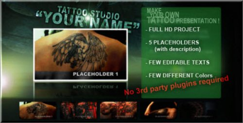 Tattoo Studio After Effects Project CS4