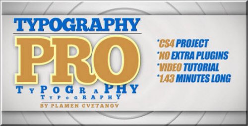 Typography Pro - Project for After Effects (Videohive)