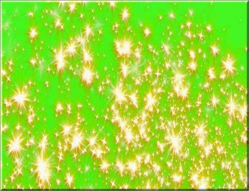 футаж - Переход Золотые звезды