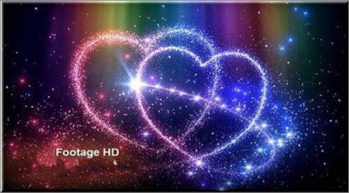 Romantic footage sparkling heart