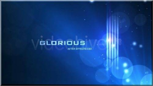 Glorious After Effects CS3 project