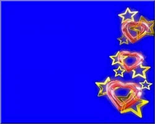 футаж - Звезды сердечки на хромакее
