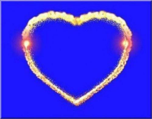 футаж - Рисующееся сердце на хромакее