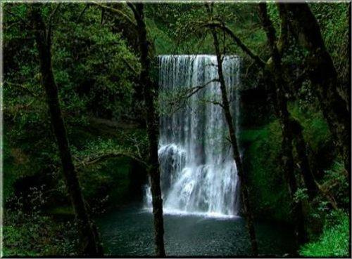 футаж Водопад