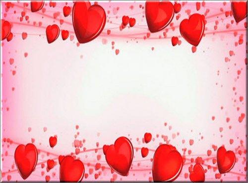 футаж фон с сердцами