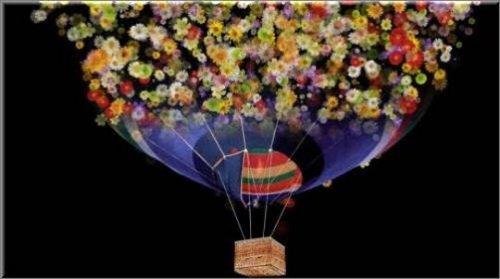 Футаж цветочный воздушный шар