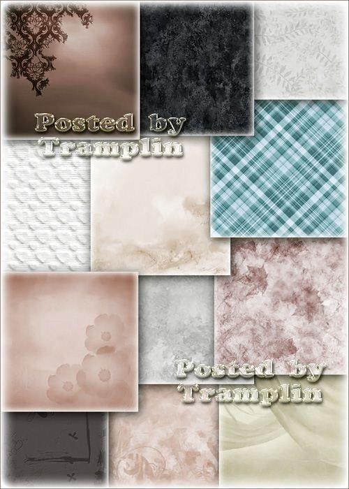 Фоны с различной текстурой ткани, листочков, цветочков