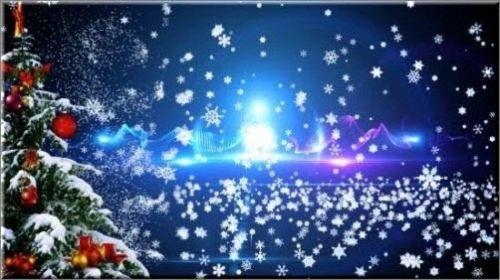 Красивая новогодняя видео заставка, с летящими снежинками