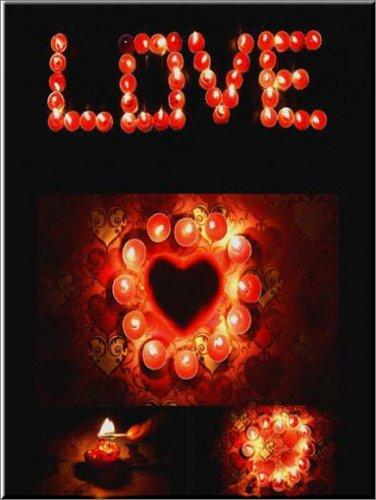 футажи - Свечи о любви