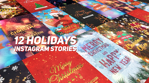Holidays Instagram Stories Pack - Project for After Effects (Videohive)