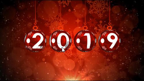 Новогодний футаж 2019