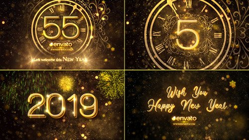 New Year Countdown 2019 23016448 - Project for After Effects (Videohive)