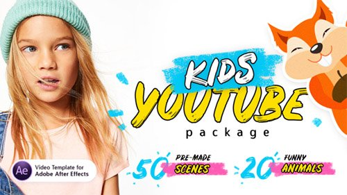 Kids Youtube Package | For Ae - Project for After Effects (Videohive)