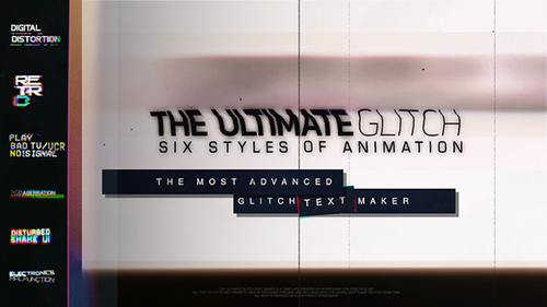 The Ultimate Glitch Text Maker + 70 Title Animation Presets Pack - Project for After Effects (Videohive)