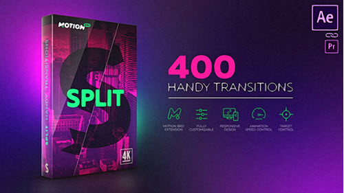 Split Handy Transitions - Project for After Effects (Videohive)