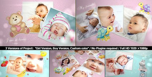 Baby Photo Album | Lovely Slideshow - Project for After Effects (Videohive)
