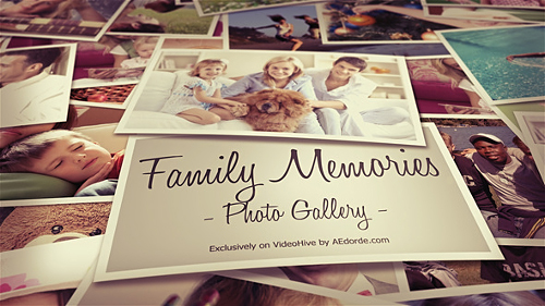 Photo Gallery - Family Memories - Project for After Effects (Videohive)