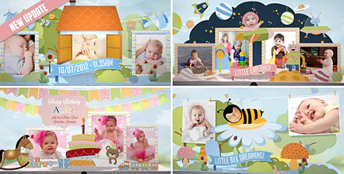 Hey, I'm Turning One! - Baby Birthday Album - Project for After Effects (Videohive)