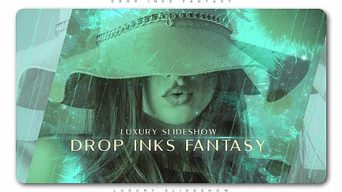 Drop Inks Fantasy Luxury Slideshow - Project for After Effects (Videohive)