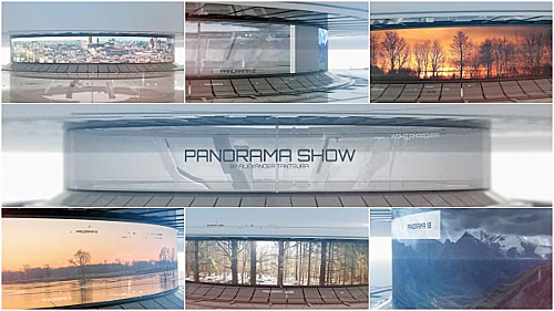 3D Panorama | Sci-Fi Video Displays - Project for After Effects (Videohive)