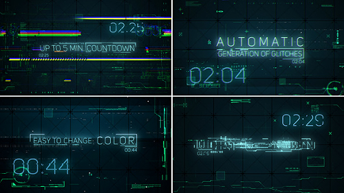 Hi-Tech Glitches (Countdown and Titles) - Project for After Effects (Videohive)