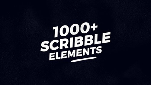 1000 Scribble Elements - Project for After Effects (Videohive)