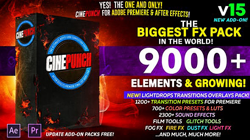 CINEPUNCH V.15 - The Biggest FX Pack in the World! - After Effects Add Ons & Project (Videohive)