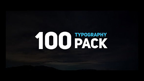 100 Typography Pack - Project for After Effects (Videohive)