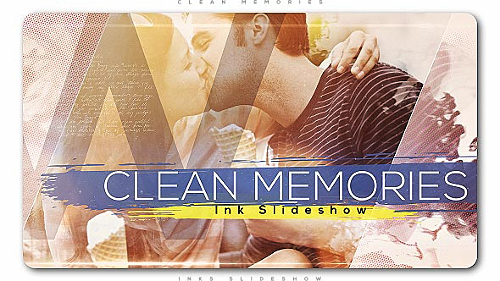 Clean Memories Inks Slideshow - Project for After Effects (Videohive)