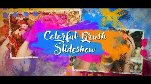 Colorful Brush Slideshow - Project for After Effects (Videohive)