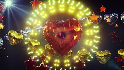 Shiny Heart Background 4k - 25417741 - Motion Graphics (Videohive)