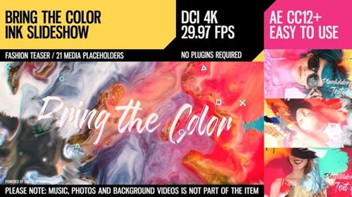 Bring the Color (4K Ink Slideshow) - Project for After Effects (Videohive)
