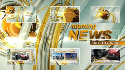 Morning News Intro - Project for After Effects (Videohive)