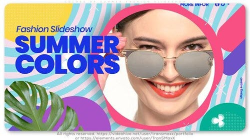Colors of Summer Fashion Slideshow - 25921832 - Project for After Effects (Videohive)