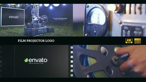 Film projector Logo 4K - 22767093 - Project for After Effects (Videohive)