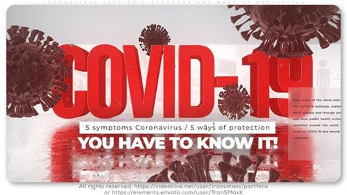 Coronavirus Info_Main Symptoms and Ways of Protection - 26151993 - Project for After Effects