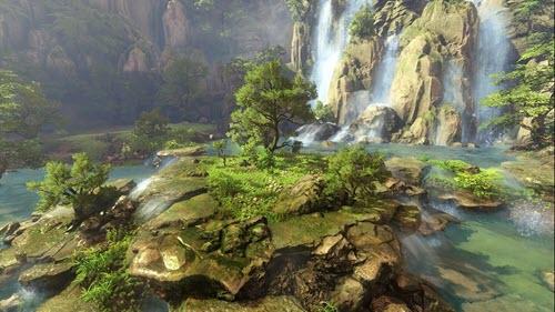 футаж природа-водопад